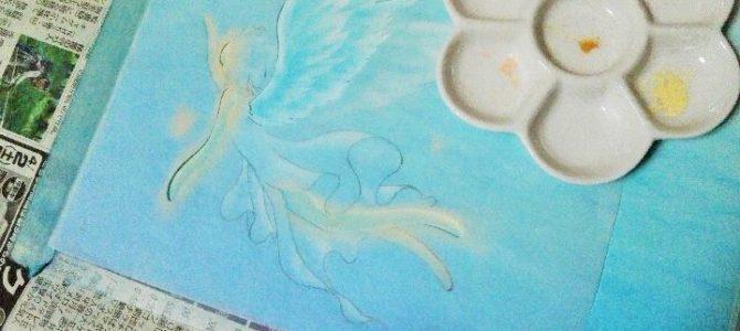 パステル天使の描き方